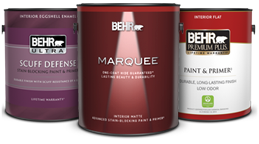 Interior paint products